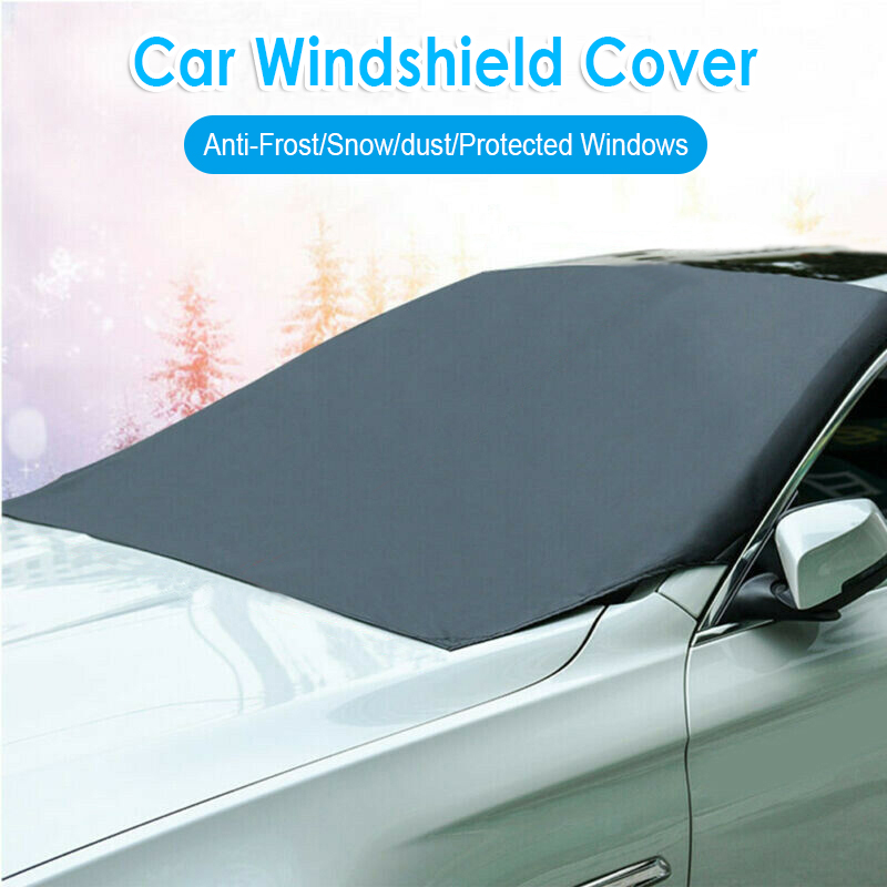 Car Auto Windshield Frost Cover Windscreen Sun Blocker Shade Snow Protector Grey