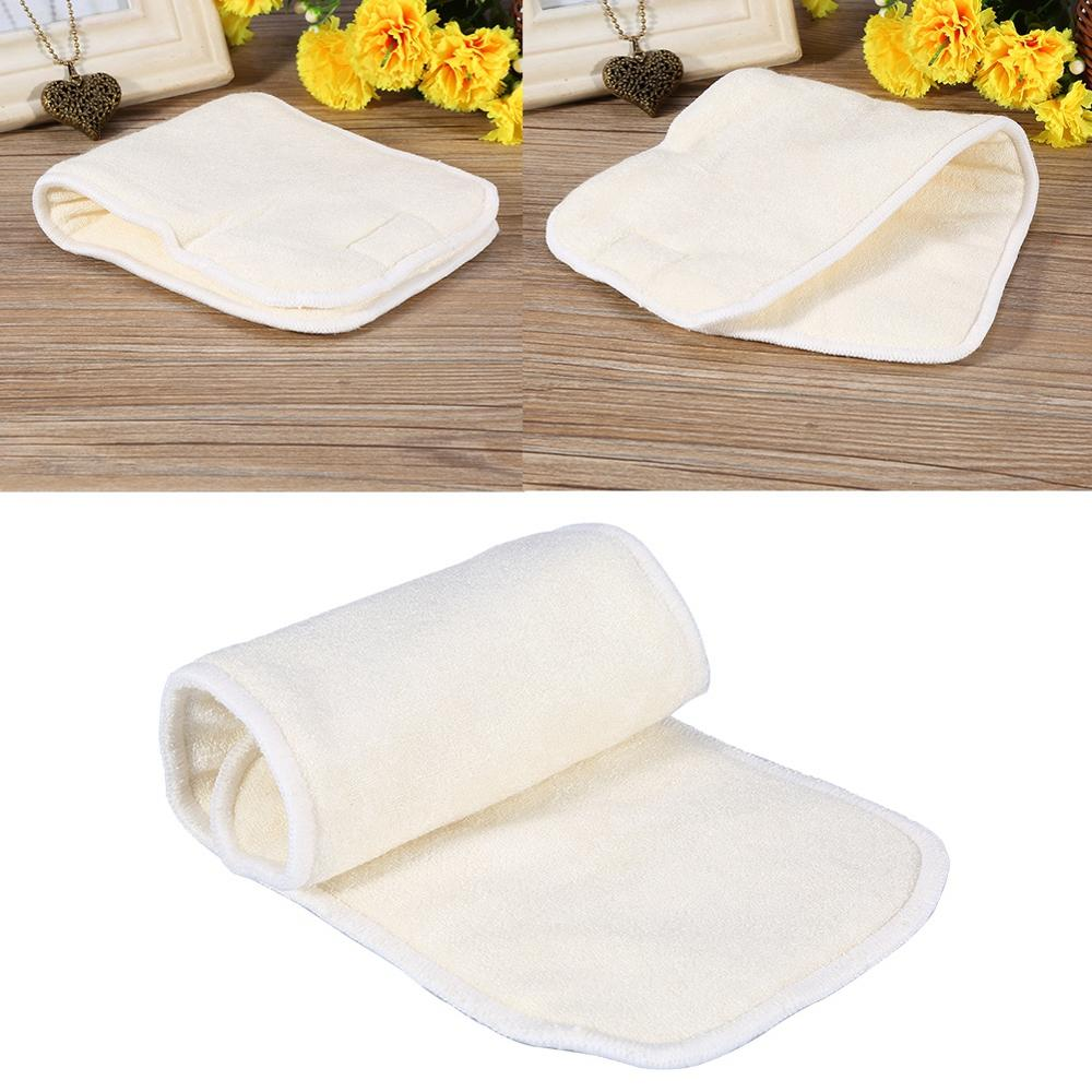 1PC 4Layers Bamboo Washable Fiber Adult Incontinence Cloth Reusable Nappy Liner Diaper Insert Pad Nappy Liner Super Absorbent