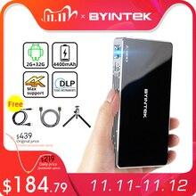 BYINTEK P10 Smart Android Wifi Mini Pocket Pico Portable Beamer LED DLP LAsEr Mobile 1080P Projector For Smartphone 4K 3D Cinema