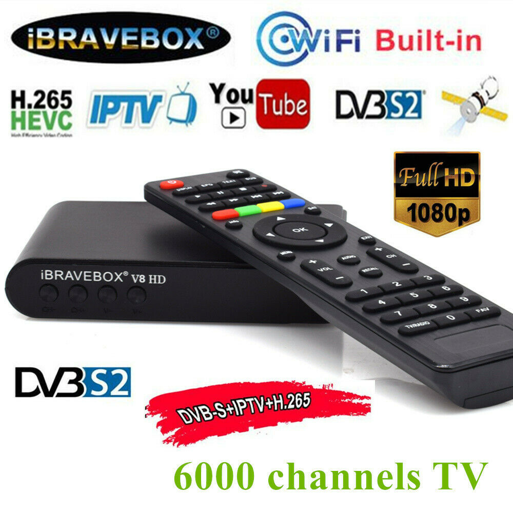 IBRAVEBOX V8 HD Satellite Web TV Receiver Digital 1080P HD DVB-S2 Set Top Box USB 2.0 1080P LNB HDMI Media Player