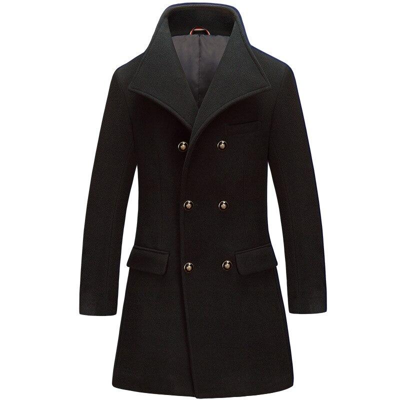 Winter AY7UNSUE Wool Coat Men Korean Man Jacket Plus Size Coat For Men Double Breasted Mens Coats Casaco Masculino KJ259 S S