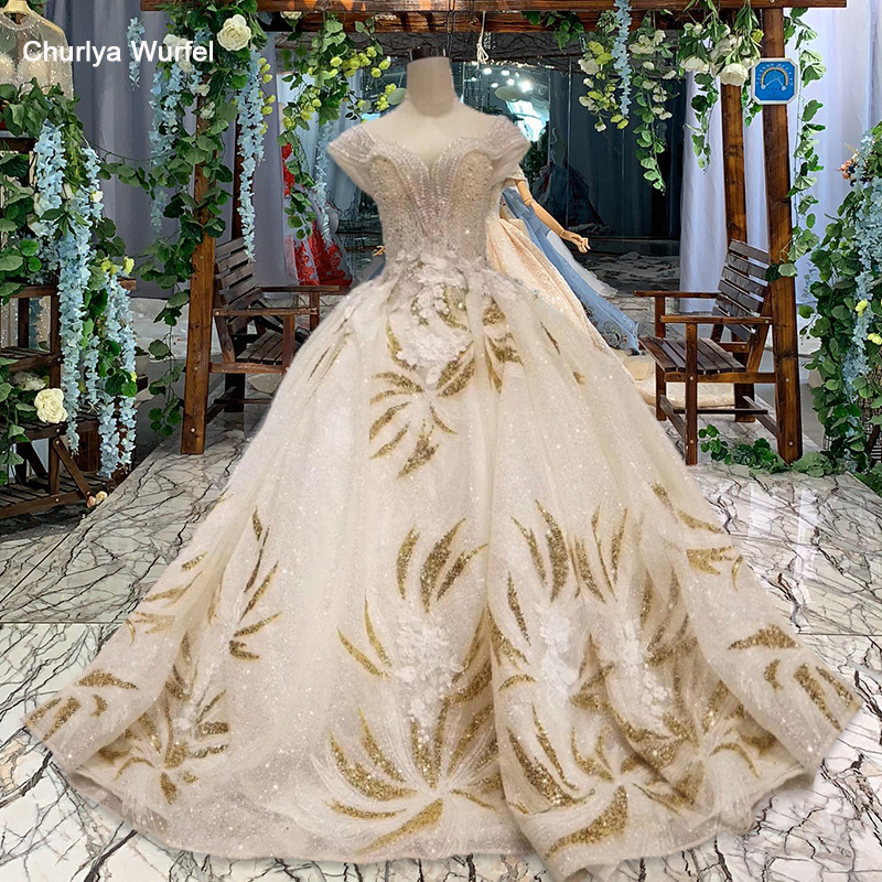 Lss514 Summer Wedding Dresses Boho V-neck Crystal Cap Sleeves Floor Length Bridal Dress Gown Ball Gown Vestido De Noiva 2019