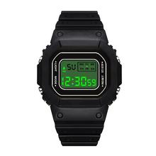 Square Mens University Student Electronic Watch Fashion Outd