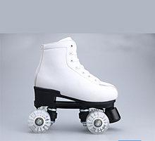 Детские параллельные коньки с двойной линией обувь из искусственной