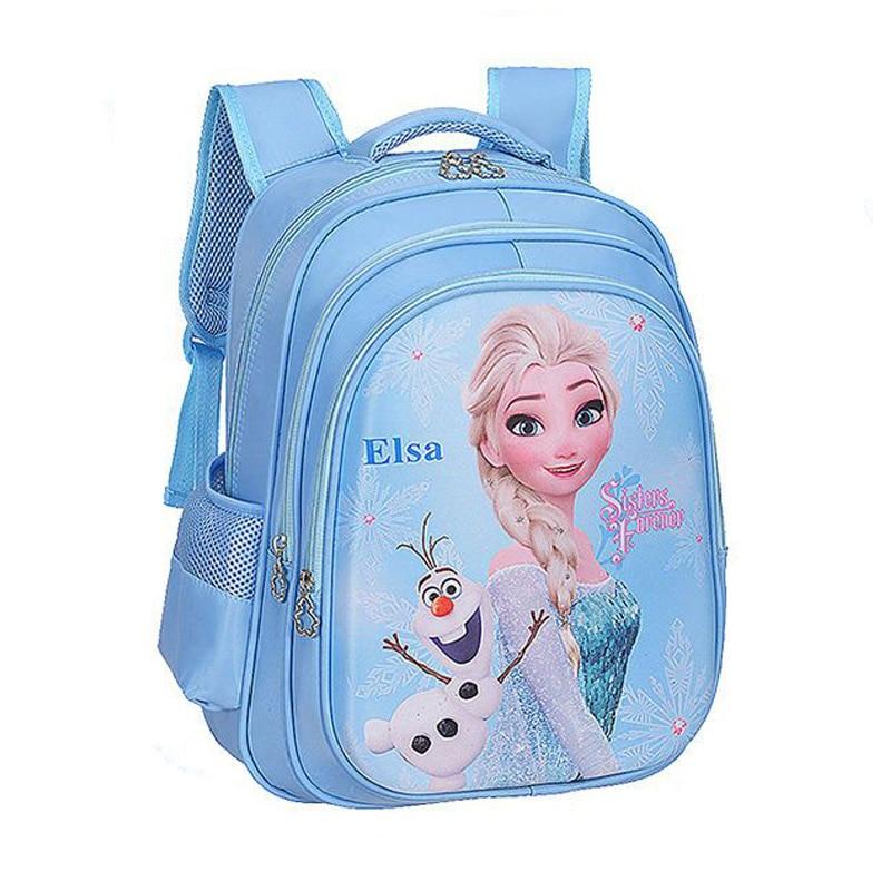 Disney Cartoon Elsa Sophia Schoolbag Girls Children School bag for Teenager Girl Orthopedic Princess Backpack Mochila Infantil
