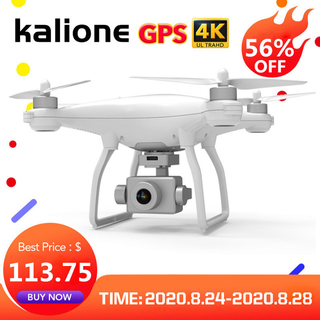 KALIONE K777 GPS Drone 4K Two Axis Gimbal Stabilizer ZOOM Camera 1KM 5G WIFI Brushless SD Card Professional 30Mins time VS X35