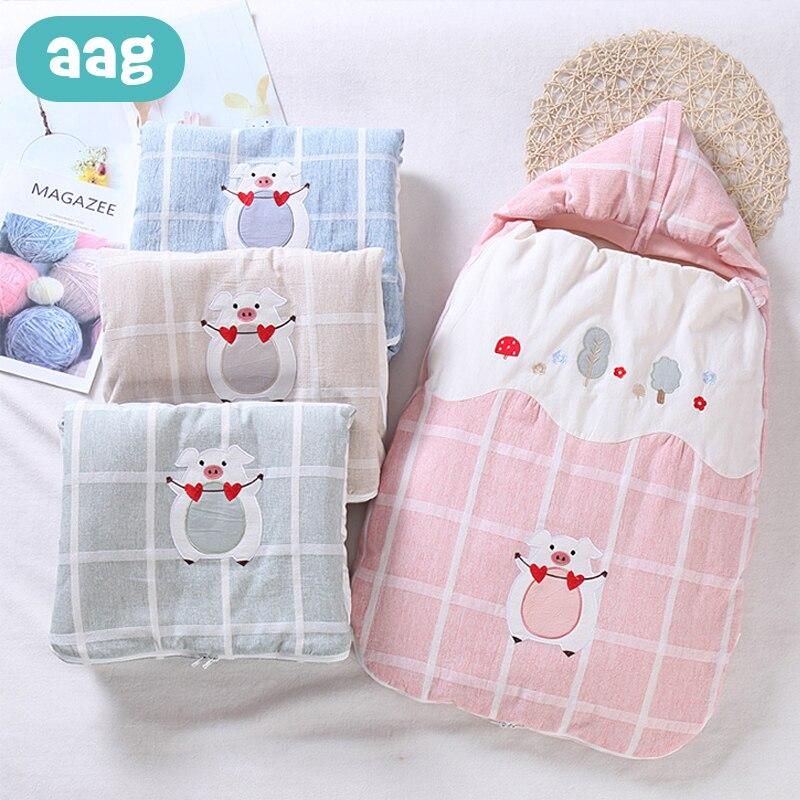 AAG Newborns Envelope For Discharge Stroller Baby Sleeping Bag Sack Diaper Cocoon For Newborns Maternity Hospital Discharge Kit