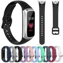 Para samsung galaxy fit SM-R370 pulseira de silicone pulseira inteligente pulseira esporte pulseira de borracha substituição