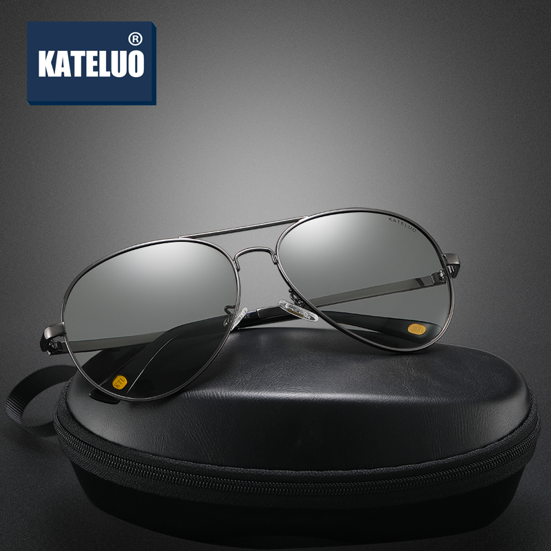 KATELUO 2020 Day Night Vision Goggles Anti-glare Glasses For Driving Mens Polarized Lens Sunglasses Photochromic Male Sun Glass