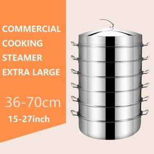 Image 3 - 23 inç pişirme buharlı tencere çok fonksiyonlu ekstra büyük ticari 60CM 3 6 katmanlı buharlı pişirme tenceresi Pot tencere çorba
