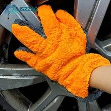 1 Pcs 울트라 럭셔리 마이크로 화이버 세차 장갑 자동차 청소 도구 홈 사용 다기능 청소 브러시 자세히