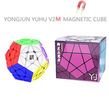 YongJun Yuhu V2 M 3x3x3 manyetik sihirli küp Megaminx küp Yj küp Megaminxeds Magia küp profesyonel bulmaca eğitim oyuncaklar çocuklar için