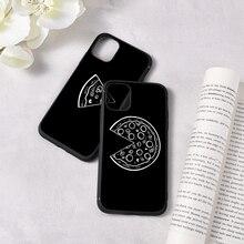 Lustige Pizza Telefon Fall Für iPhone 11 Pro Max X XS Max XR 7 8 6 6S Plus SE fall Beste Freunde Schwarz Paar Weiche Abdeckung Funda Shell