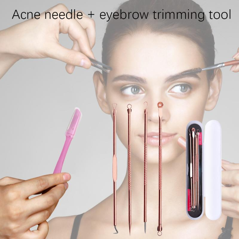 Stainless Steel Blackhead Remover Acne Extractor Save Time And Energy For Convenience Remover Needles Eyebrow Tools