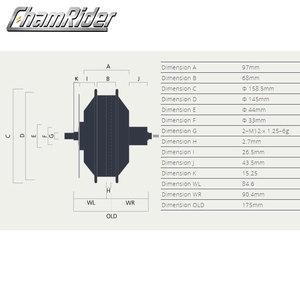 Image 2 - Bafang Fatbike Freehub 48V 350W 500W 750W 8FUN e bike yüksek hızlı fırçasız dişli Hub motor tekerlek kaset RM G060.350.DC 175 190