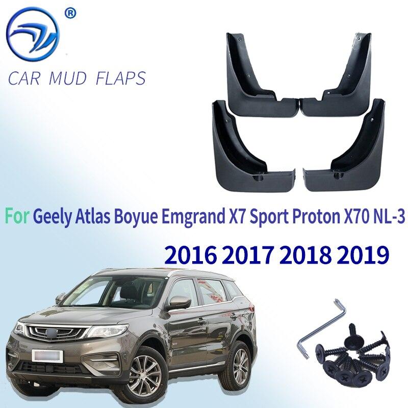 Брызговики для Geely Atlas Boyue Emgrand X7 Sport Proton X70 NL-3 2016 2017 2018 2019
