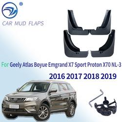Para geely atlas boyue emgrand x7 esporte proton x70 NL-3 2016 2017 2018 2019 fender paralama mud flaps guarda splash flap mudguards