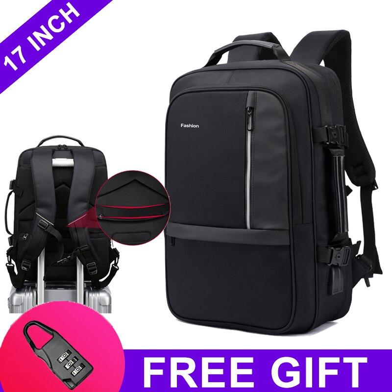 17.3 inch Laptop Backpack Waterproof Anti Theft USB Notebook Business School Bag