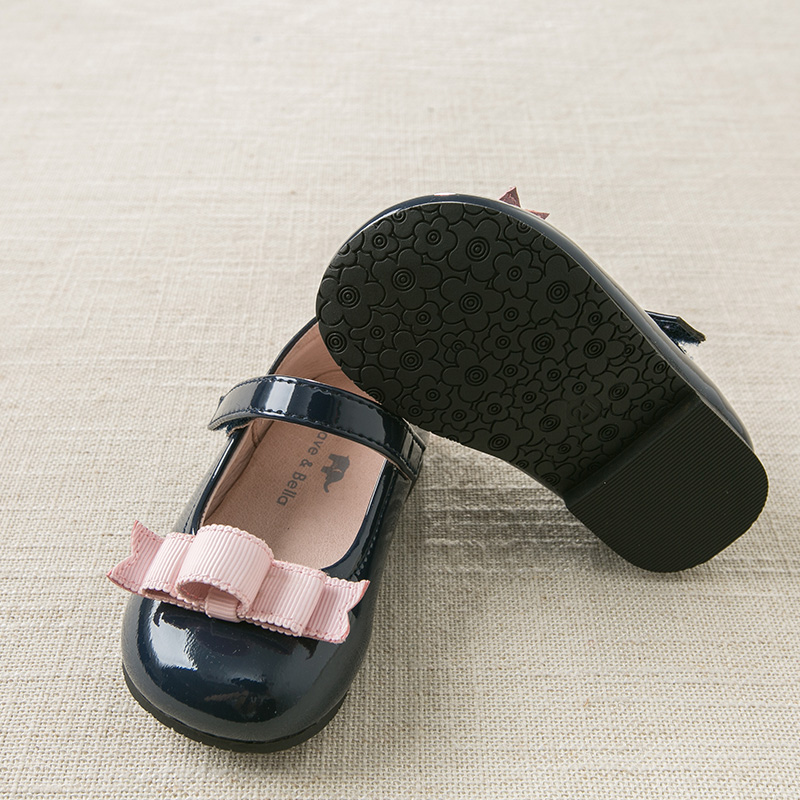 DB11906 Dave Bella  autumn baby girl bow leather shoes children brand shoes