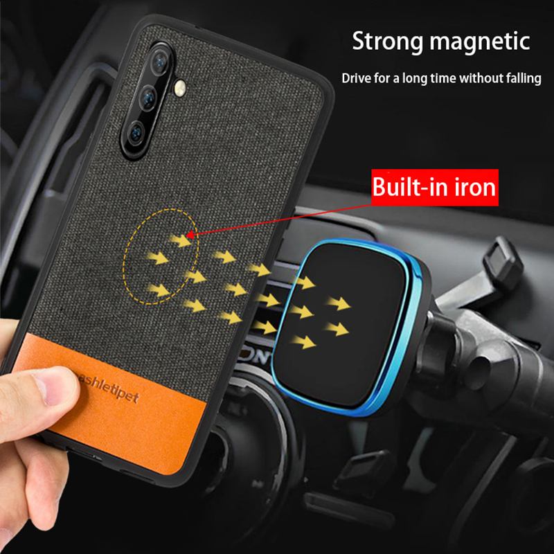 Men Business Magnetic case for Samsung Note 10 10+ Para note 8 cover shockproof fabric capa Galaxy Note10 plus