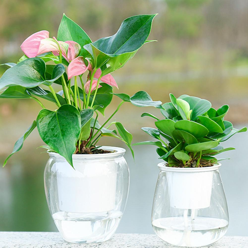 Self Watering Plant Flower Pot Water Container Plastic Flower Plant Vase Pot Plants Stand Holder Container Planter Garden Tool