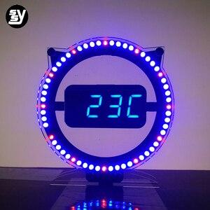 Цифровые светодиодные часы diy kit, электронный обучающий комплект, паяльный комплект