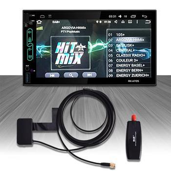 Автомобильная антенна DAB с адаптером USB ресивером для Android 4,4 5,1 6,0 7,1 Автомобильный плеер подходит для Европы Австралии dab адаптер usb