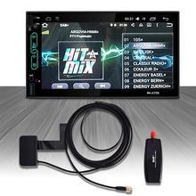 Carro dab antena com adaptador usb receptor para android 4.4 5.1 6.0 7.1 jogador do carro aplicável para a europa austrália dab adaptador usb