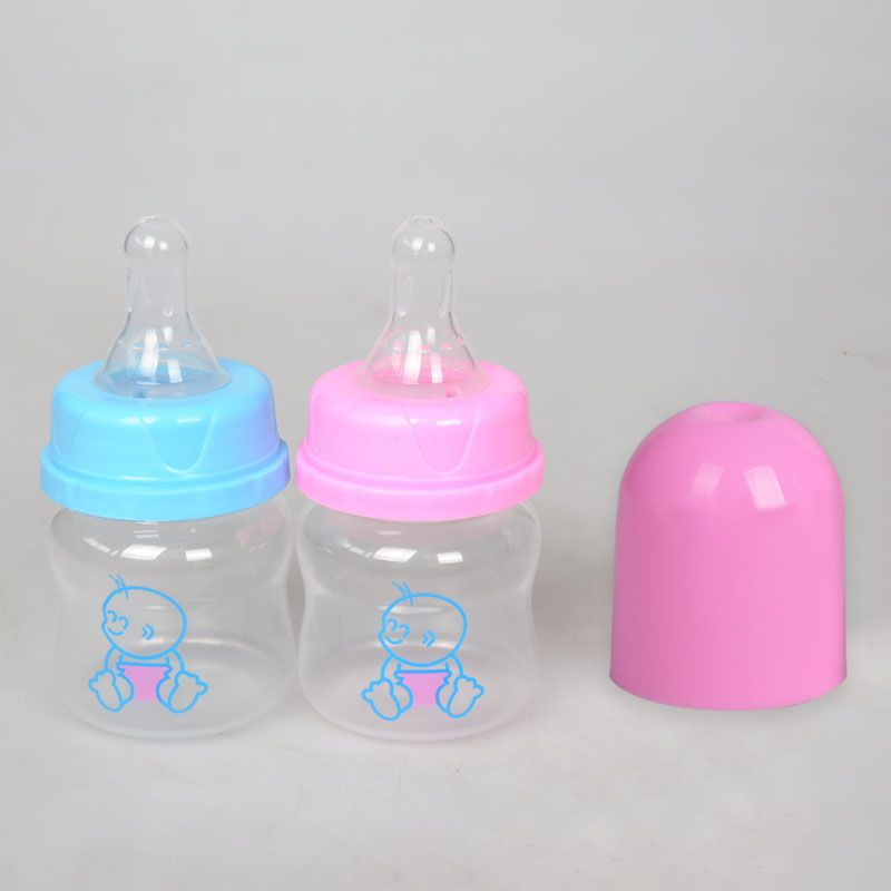 Baby Small Bottles Newborns Feeding PP 60 Ml Milk Bottle Toddlers 0-6 M Training Nursing Juice Mini Scale Appease Safety Bottles