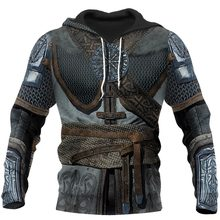 Viking Armor - Tattoo 3D All Over Printed Men hoodies Harajuku Fashion hooded Sweatshirt Unisex Casual jacket Zip Hoodie