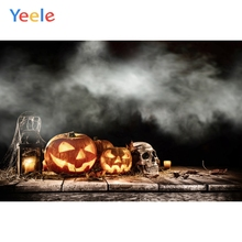 Yeele Halloween Photocall Horror Fog Pumpkin Lantern Photography Backdrop Personalized Photographic Backgrounds For Photo Studio