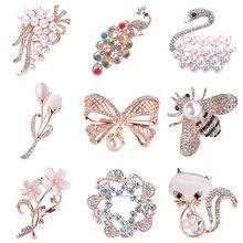 Broches para mulheres bouquet strass broches pinos cachecol clipe de jóias cachecol broche pino acessórios de roupas de natal jóias