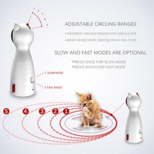 Image 3 - Carrywon القط الحيوانات الأليفة LED الليزر مضحك لعبة الذكية التلقائي القط التمرينات مسلية لعبة متعددة زاوية قابل للتعديل USB تهمة