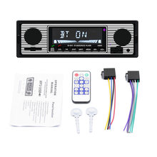 Auto MP3 Speler Stereo Fm Retro Radio 12V Bluetooth Stereo MP3 Usb Aux Power Kabel Voertuigen Radio Accessoires(China)