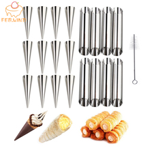 8/12 Pack Metal Cream Horn Molds Cannoli Forms For Baking Steel Small/Large Pastry Cone Mold Cream Roll Mould Cannoli Tube 261