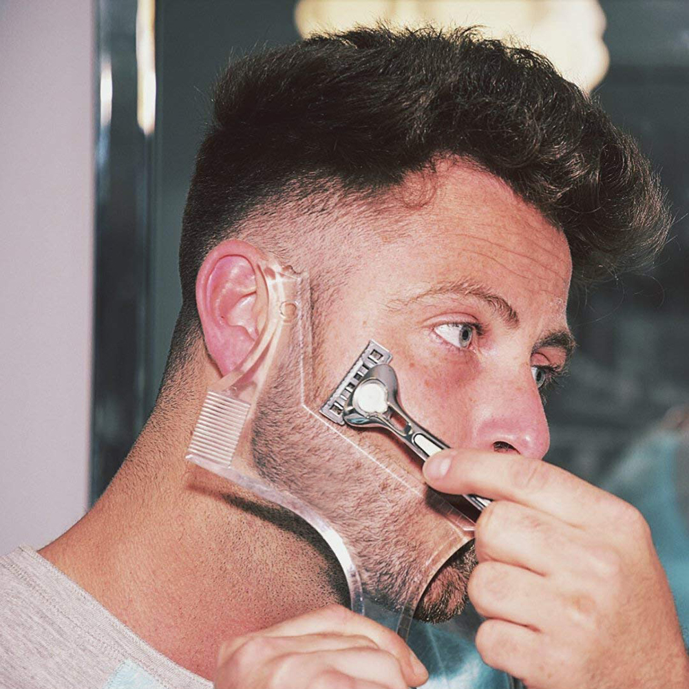 Wholesale Men's Beard Shaping Styling Tools Beard Comb Template Comb For Hair Beard Beauty Tool Beard Trim Templates Styling