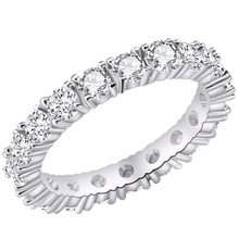 New Brand Jewelry White Color Inlay Cubic Zirconia Unique Shaped Ring For Women Women