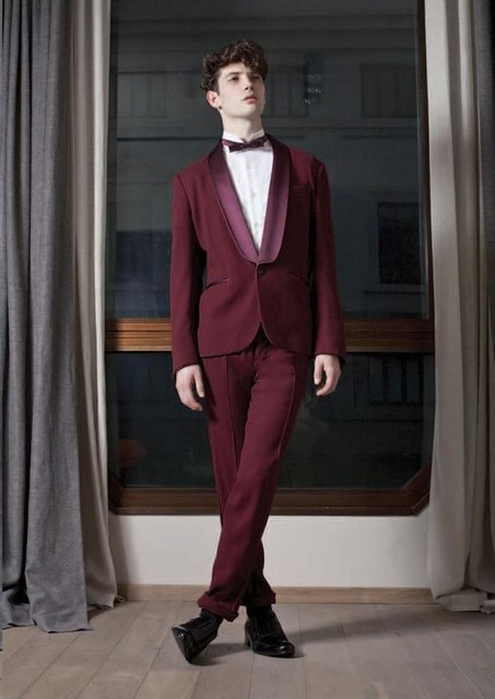Latest Coat Pant Designs Burgundy Jacket Men Suit Prom Tuxedo Slim Fit 2 Piece Custom Groom Fashion Blazer Terno Masculino