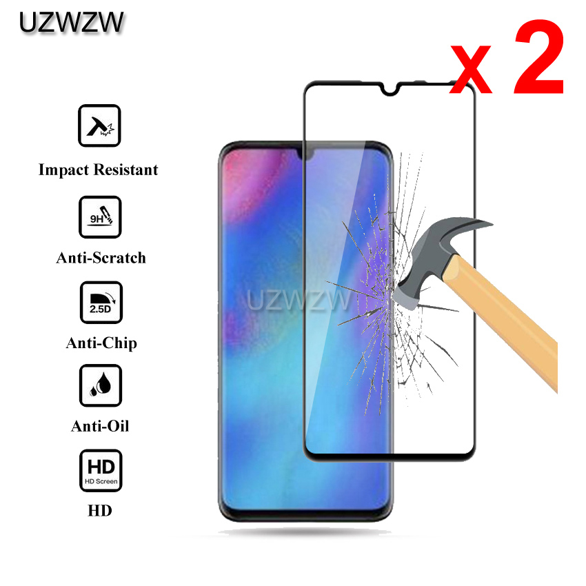 2pcs Tempered Glass For Huawei P30 Lite 6.15 Inches Full Cover 2.5D Screen Protector Tempered Glass For Huawei P30 Lite
