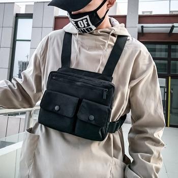New Men Tactical Chest Bag Streetwear Tactical Vest Chest Pack Hip hop Function Chest Rig Bags Nylon Abdomon Vest Chest Rig Pack фото