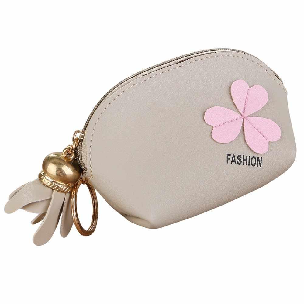 Maison Fabre sac en cuir portefeuille femmes portefeuilles pour cartes portefeuille porte-monnaie fleur fermeture éclair mini portefeuille en cuir porte-monnaie