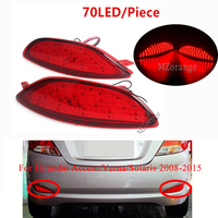 For Hyundai Accent/Verna/Solaris 2008 2015 For Brio Rear Bumper Reflector Brake Light LED Bulbs Car Warning Tail Light Stop Lamp