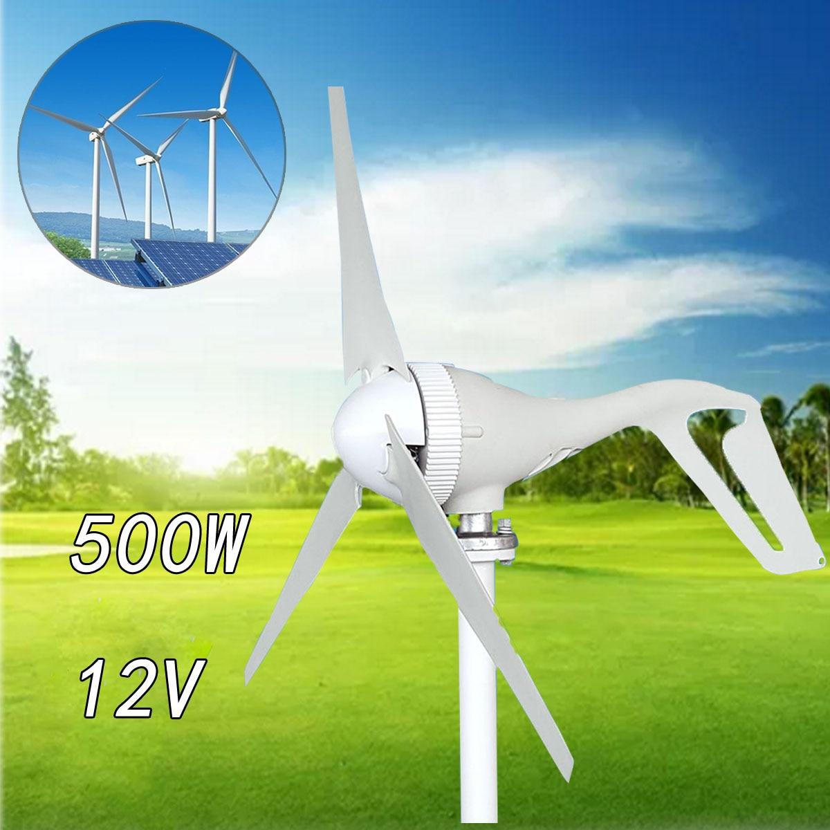 Générateur de vent automatique Becornce 500W 12V 3 pales avec contrôleur de vent 600W pour lampadaire Hyb rid