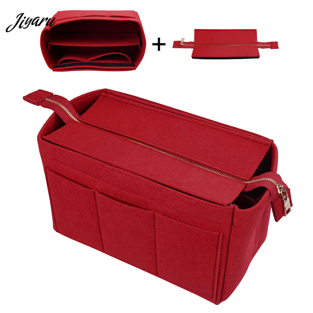 Hot Felt Makeup Bag Travel Cosmetic Handbags Organizer Felt Insert Bag Makeup Bag Organizer Ladies Travel Organizer Luggage