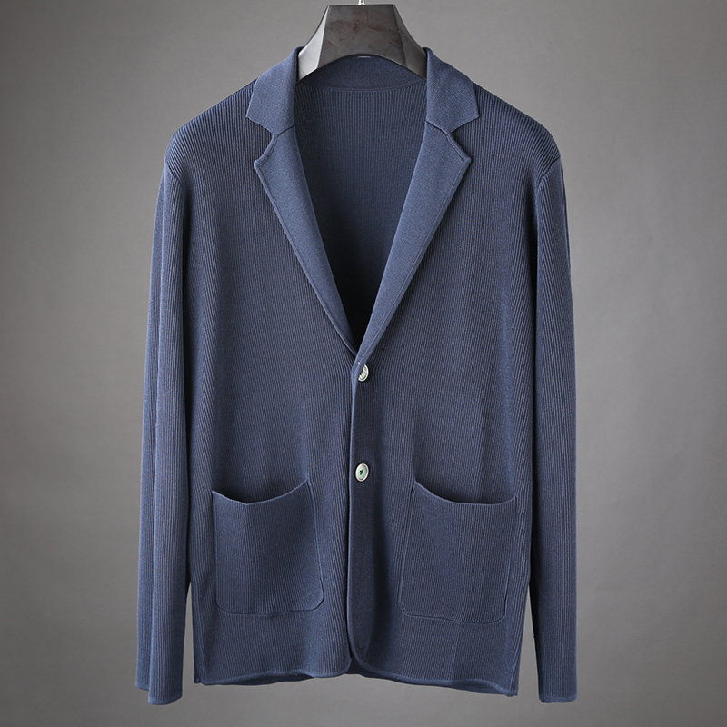 JSBD sweater cardigan sweater men's suit collar wear sweater loose casual coat pl. brand clothing XXXXL