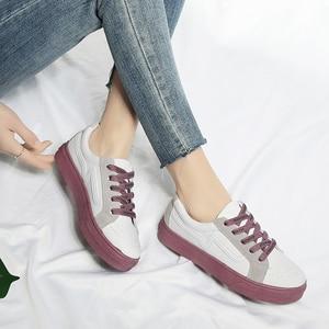 Image 2 - New Brand Shoes Women Vulcanized Canvas Casual Sneakers Fashion Lace Up Shoes Ladies Footwear Female Tenis Feminino Ayakkabi