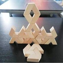 Новый Монтессори Деревянные укладка головоломки v образной формы