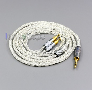 LN006427 99% Pure Silver XLR 2.5mm 4.4mm 3.5mm 8 Core Headphone Earphone Cable For Sennheiser HD700