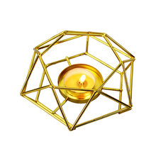 Minimalist Geometric Iron Candlestick European Style Wall Candle Holder Ornament Wedding Home Decoration Supplies