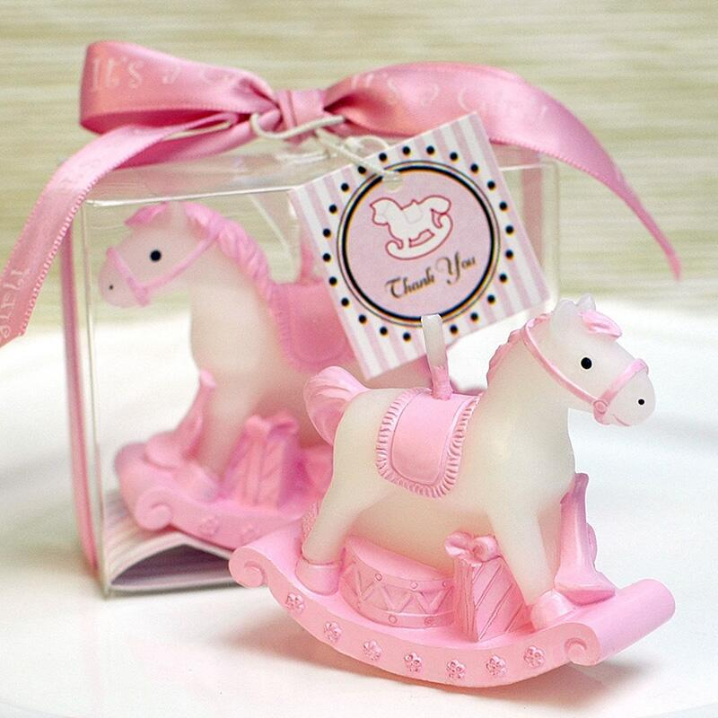 20PCS Rocking Horse Candle Favors for Baby Shower Kids Birthday Gifts Baptism Keepsake Event Anniversary Favours